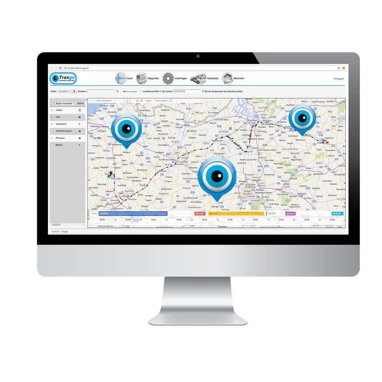 Tracking systeem voor auto's en andere voertuigen