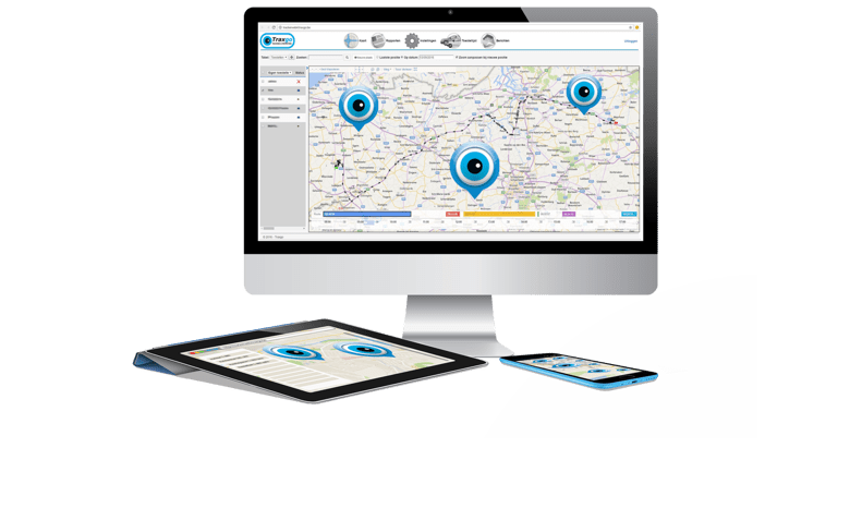 Tracking of vehicles with Traxgo track & Trace systems