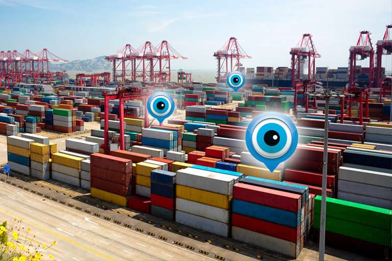 Tracking systeem voor containers