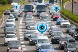 Een tracking systeem voor voertuigen (auto's, vrachtwagens, ...).